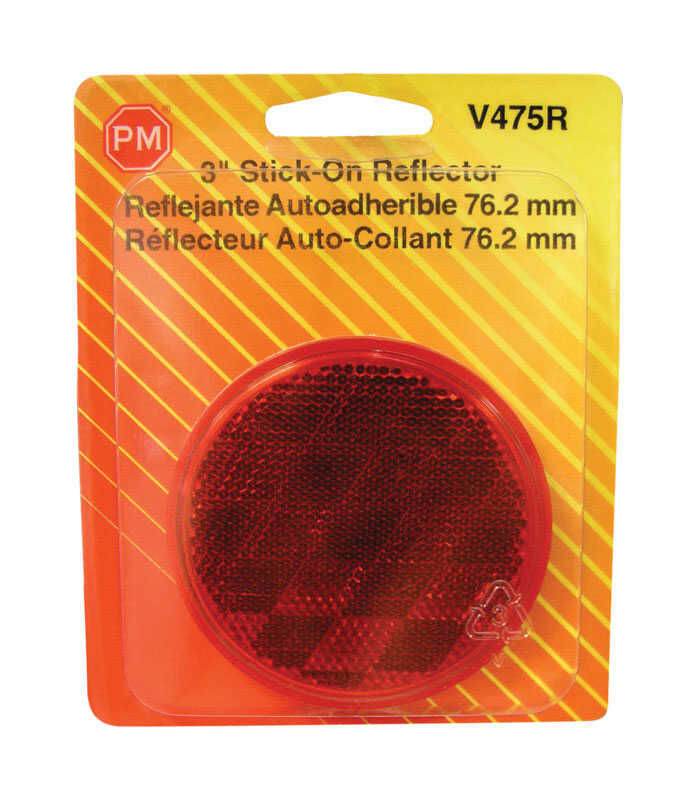Peterson  Red  Round  Reflector  1 pk