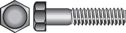 Hillman  1/4-20 in. Dia. x 4 in. L Stainless Steel  Hex Head Cap Screw  25 pk