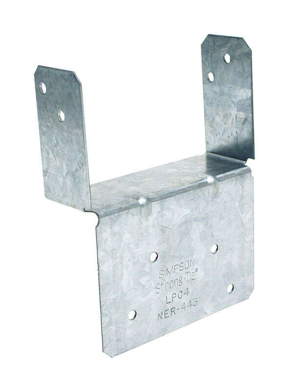 Simpson Strong-Tie ZMax 1.25 in. H x 2.56 in. W 18 Ga. Galvanized Steel End Post Cap