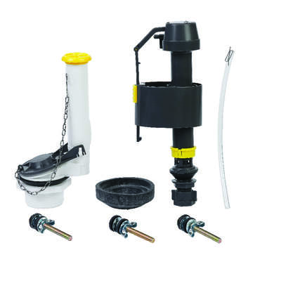 Ace  Fill Valve And Flapper Kit  Black  Plastic