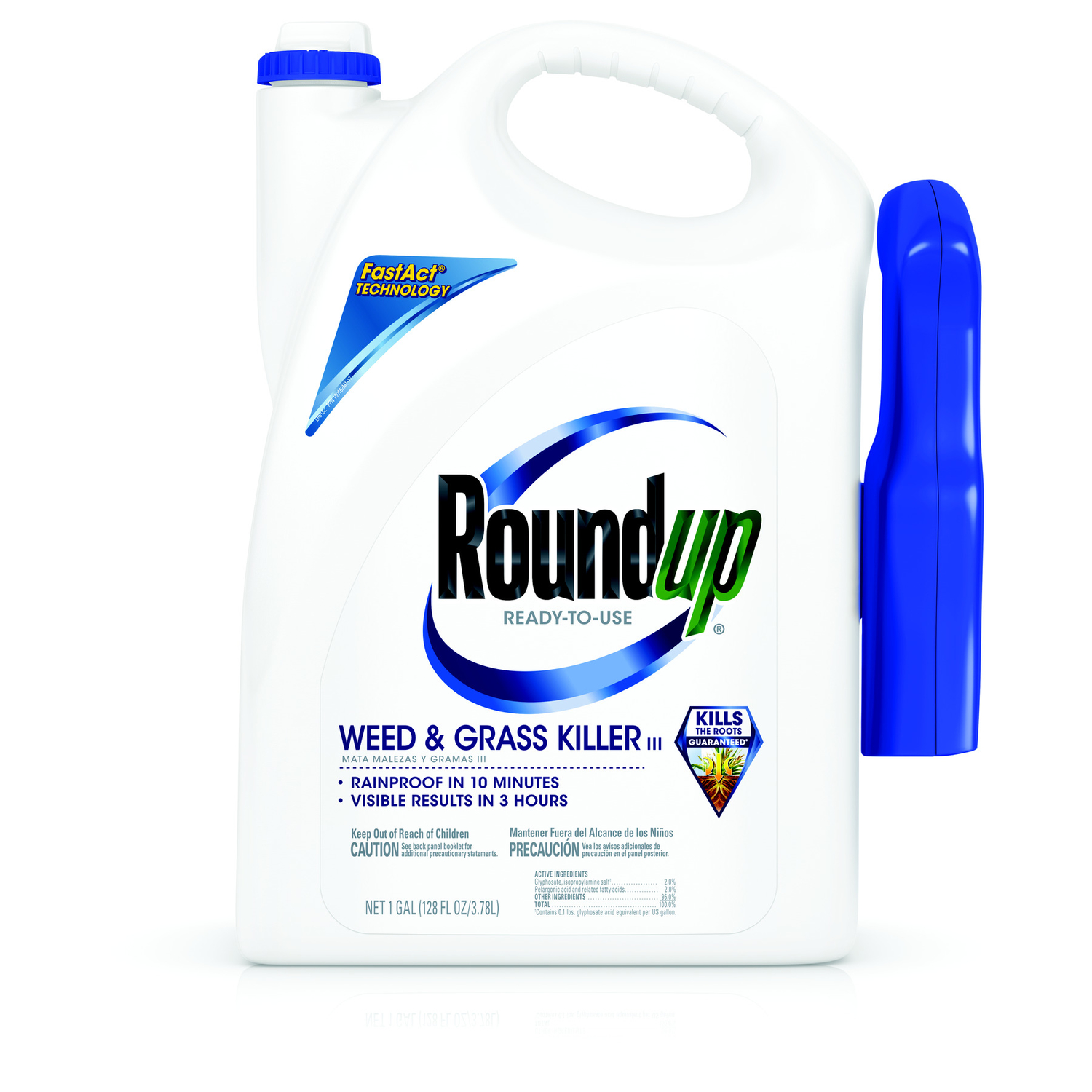 Roundup  RTU Liquid  Weed and Grass Killer  1 gal.