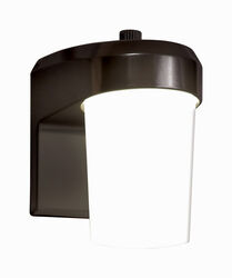 All-Pro Dusk to Dawn LED Bronze Entry Light w/Photo Control Hardwired