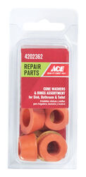 Ace Assorted in. Dia. Rubber Cone Washer 8 pk