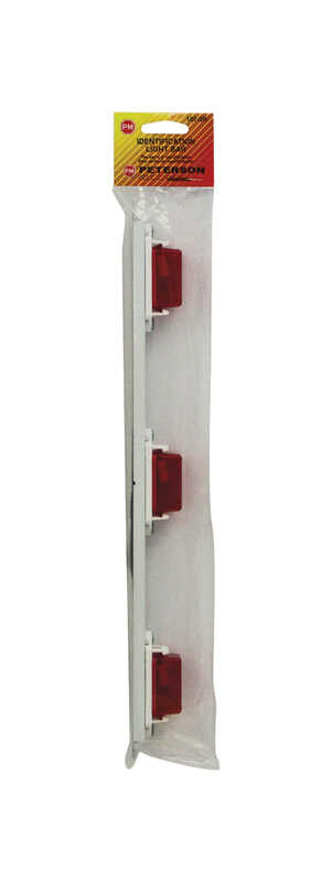 Peterson  Rectangle  Red  Clearance Side Marker Light