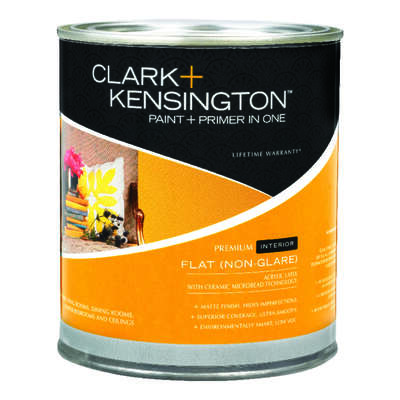 Ace  Clark+Kensington  Flat  Tintable Base  Midtone Hi-Hide Base  Paint and Primer  Interior  1 qt.