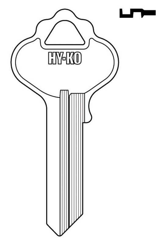 Hy-Ko  Automotive  Key Blank  EZ# 18  Single sided For Fits Independent / Lico