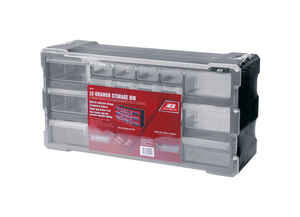 Ace  6-1/4 in. L x 19-1/2 in. W x 9-1/2 in. H Storage Organizer  Plastic  22 compartment Gray
