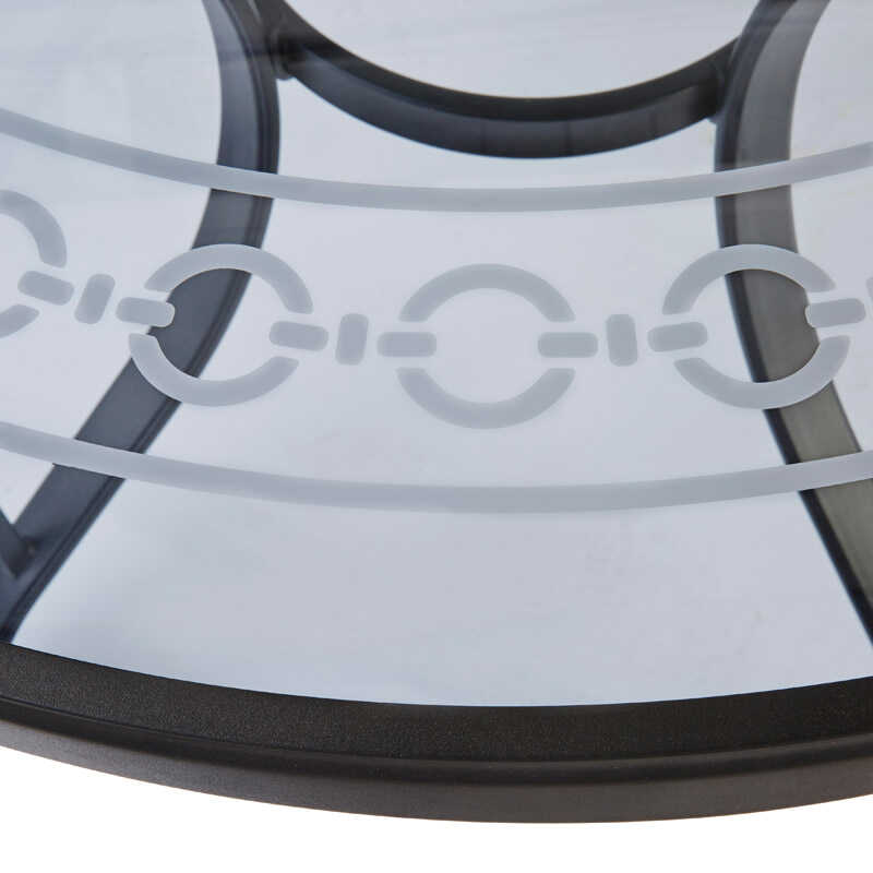 Living Accents  Brighton  Round  Black  Dining Table