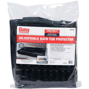Oatey  Black  Adjustable Bath Tub Protector
