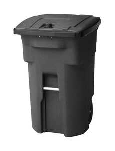 Toter  Bear Tough  64 gal. Polyethylene  Wheeled Trash Can