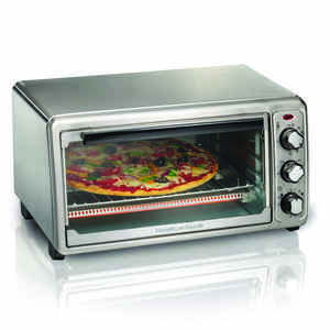 Hamilton Beach  Chrome  Silver  Convection Toaster Oven  9 in. H x 17 in. W x 15 in. L