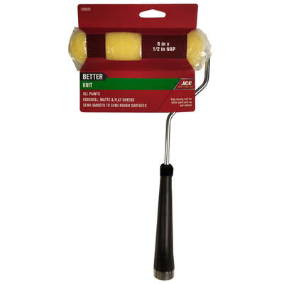 Ace  Better  Knit  6 in. W x 1/2 in.  Mini  Paint Roller with Frame  1 pk