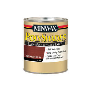 Minwax  PolyShades  Semi-Transparent  Satin  Natural Cherry  Oil-Based  Stain  1 qt.