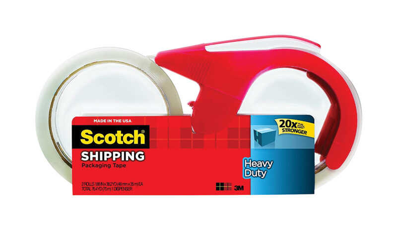 Scotch  1.88 in. W x 38.2 yd. L Heavy Duty Packaging Tape  Clear