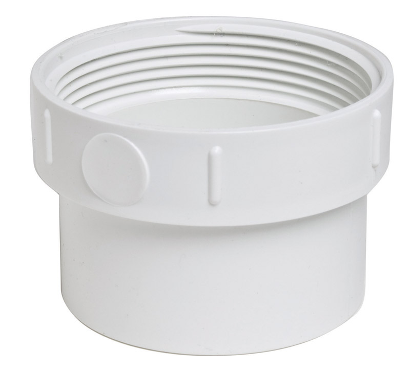 Plastic Trends  SDR35/3034  3 in. Spigot   x 3 in. Dia. FPT  PVC  Cleanout Adapter