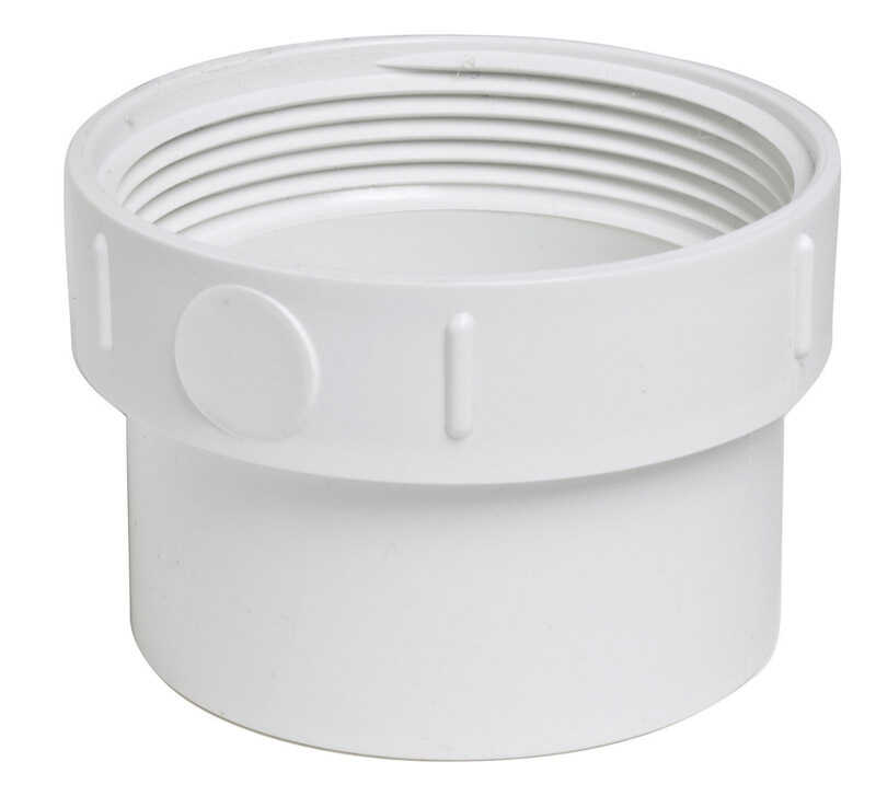 Plastic Trends  3 in. Spigot   x 3 in. Dia. FPT  PVC  Cleanout Adapter