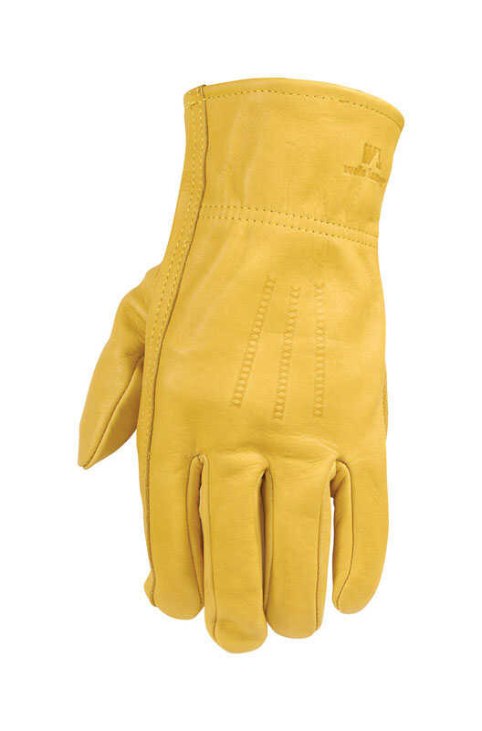 Wells Lamont  Universal  Leather  Work Gloves  Yellow  L  2 each
