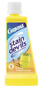 Carbona  Stain Devils Rust and Perspiration  No Scent Stain Remover  Liquid  1.7 oz.