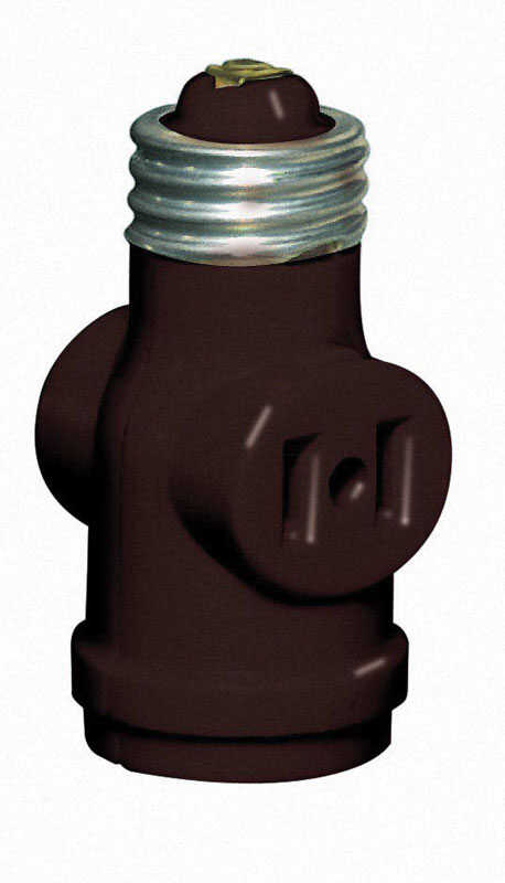 Leviton  Plastic  Socket Adapter  1 pk
