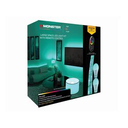 Monster Just Color it Up  6.5 ft. L Multicolored  Plug-In  LED  Mood Light Strip Kit with Adapter  2