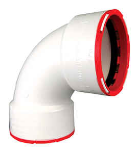 Connectite  ConnecTite  Schedule 40  2 in. Hub   x 2 in. Dia. Hub  PVC  Bend Elbow  Plastic  90 deg.