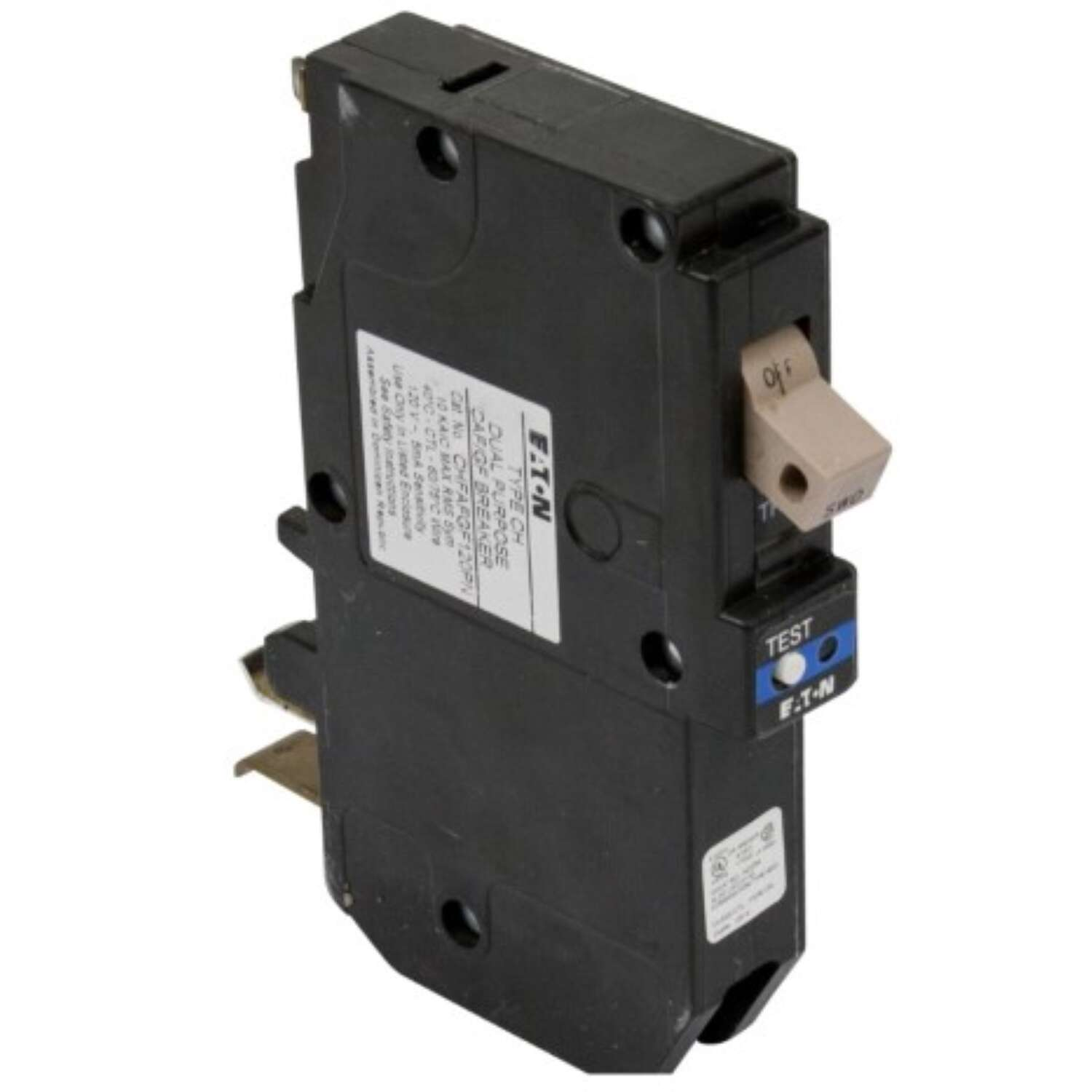 Eaton  15 amps Arc Fault/Ground Fault  Single Pole  Circuit Breaker