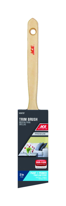 Ace  2 in. W Premium  Angle  Nylon Polyester  Trim Paint Brush  Medium Stiff