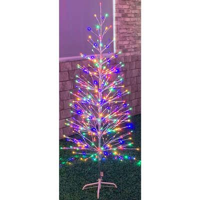 Celebrations  Multi  Color Changing Twig Tree  Yard Decor