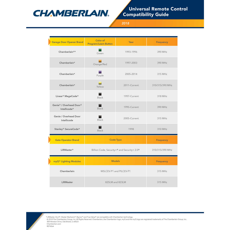 Chamberlain Clicker 1 Door Wireless Keyless Entry For
