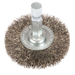 Forney  1-1/2 in. Crimped  Wire Wheel Brush  Metal  6000 rpm 1 pc.
