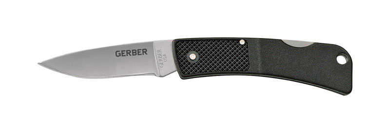 Gerber  Ultralight LST Series  Black  420 HC Stainless Steel  4.62 in. Folding Knife