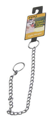 PDQ  Silver  Lightweight  Steel  Dog  Choke Chain Collar  Small/Medium