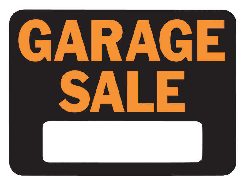 Hy-Ko  English  9 in. H x 12 in. W Sign  Plastic  Garage Sale
