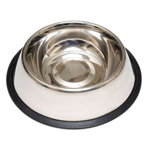 Hilo  Silver  Plain  Stainless Steel  1 oz. Pet Dish  For Dog