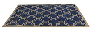 Linon Home Decor  9.5 ft. L x 6.5 ft. W Outdoor Rug  Blue