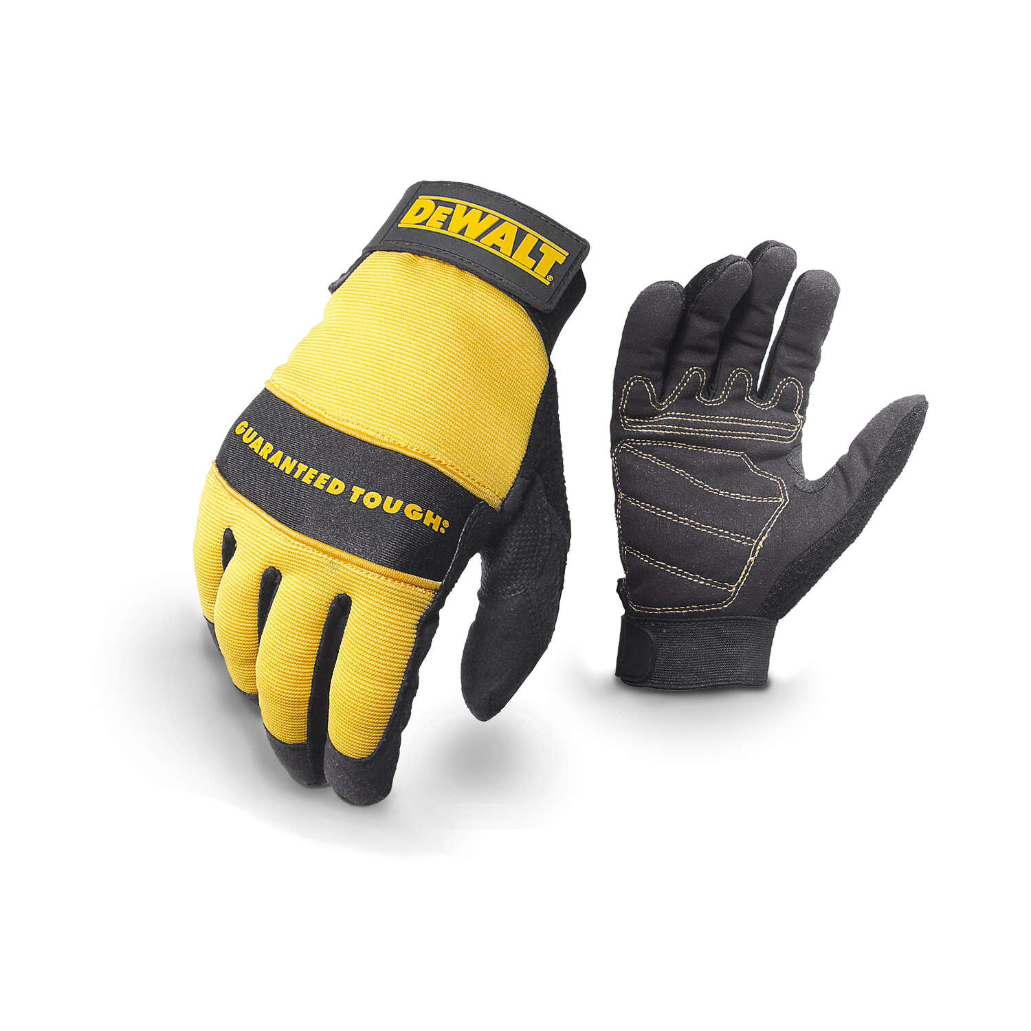 DeWalt Radians Unisex Synthetic Leather All Purpose Gloves Black/Yellow M 1 pk