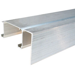 Johnson Hardware  Mill  Silver  Aluminum  By-Pass Fascia Track  25 pc.