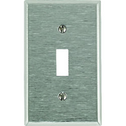 Leviton  Silver  1 gang Stainless Steel  Toggle  Wall Plate  1 pk