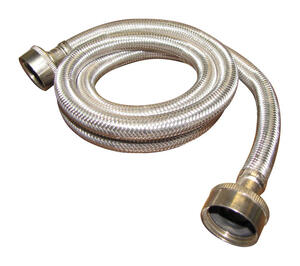 Plumb Pak  3/4 in. FHT   x 3/4 in. Dia. FHT  48 in. Stainless Steel  Washing Machine Supply Line