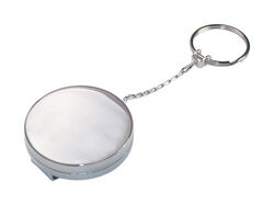 Hillman Metal Silver Retractable Key Chain