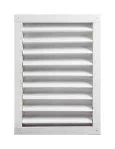 Master Flow  14 in. W x 24 in. L White  Aluminum  Wall Louver