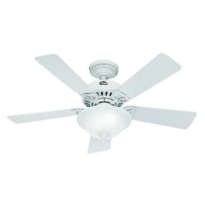Hunter Fan  Caraway  44 in. Snow White  Indoor  Ceiling Fan