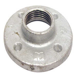 B & K  1-1/2 in. FPT   Galvanized  Malleable Iron  Floor Flange