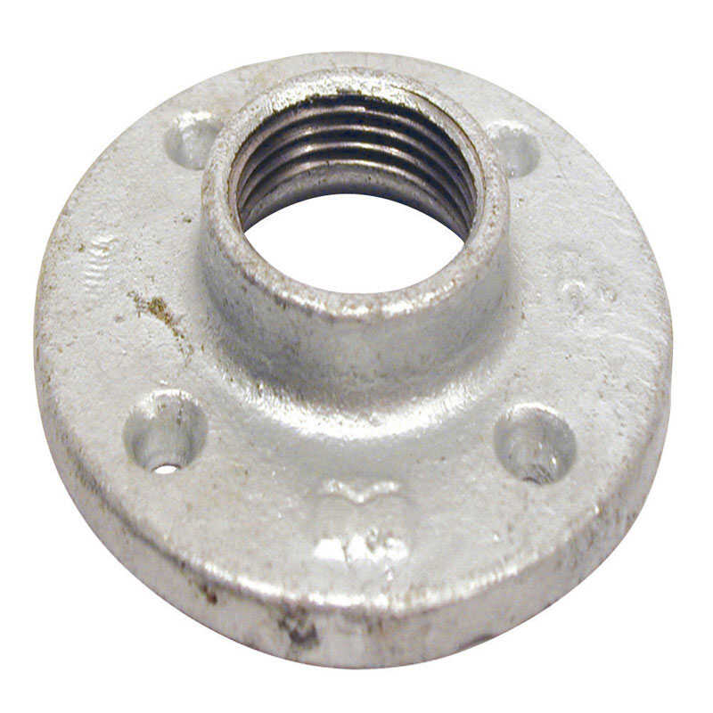 BK Products  1-1/2 in. FPT   Galvanized  Malleable Iron  Floor Flange