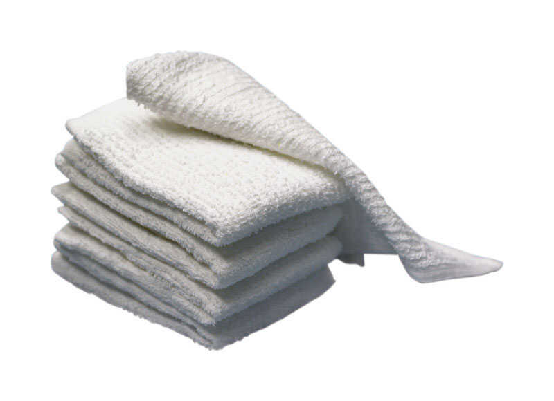Ritz  White  Cotton  Bar Mop Dish Cloth  5 pk