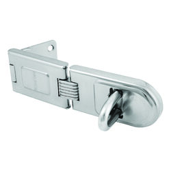 Master Lock Bright Hardened Steel 6-1/4 in. L Fixed Staple Hasp 1