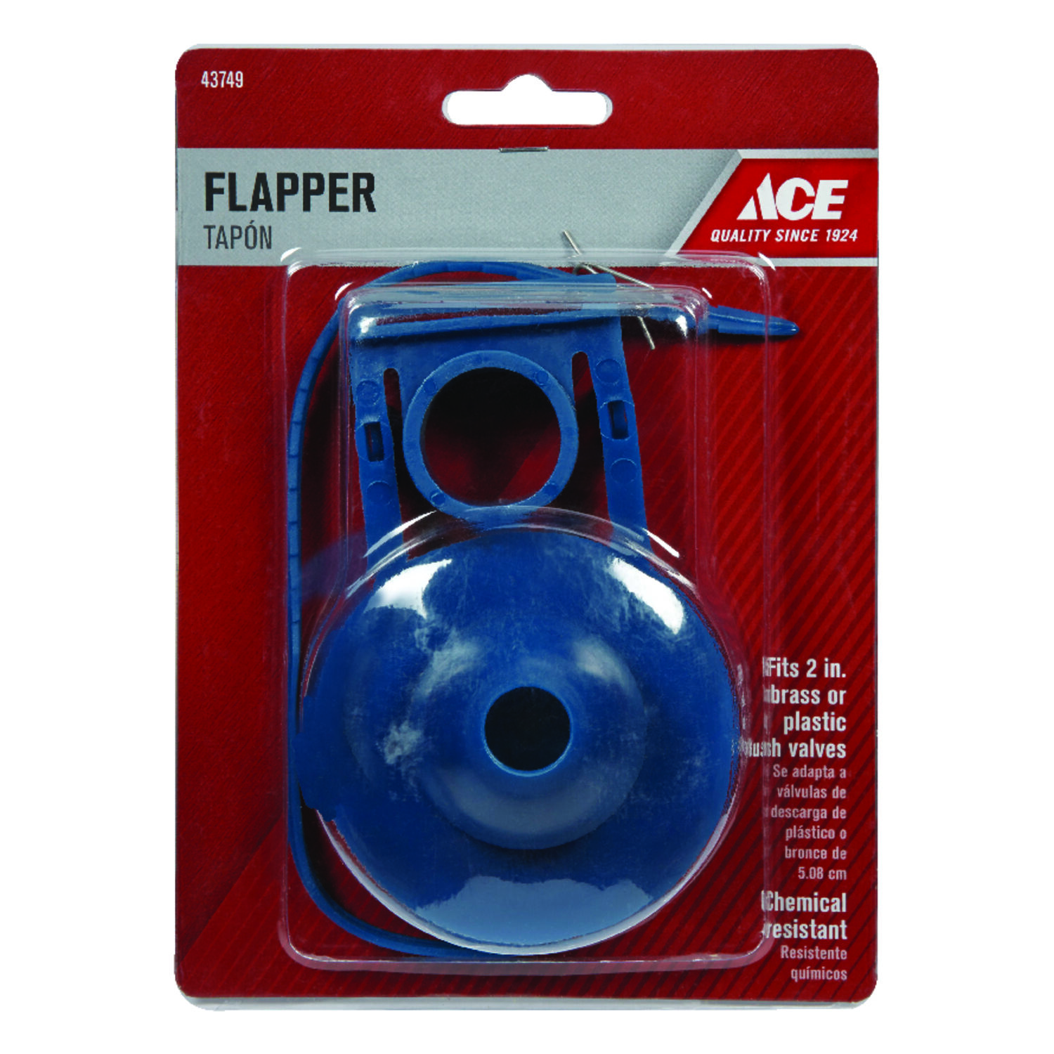 Ace  Flapper  2 in. L PVC
