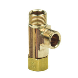 BrassCraft  3/8 in. Female   x 3/8 in. Dia. Female  Brass  Tee