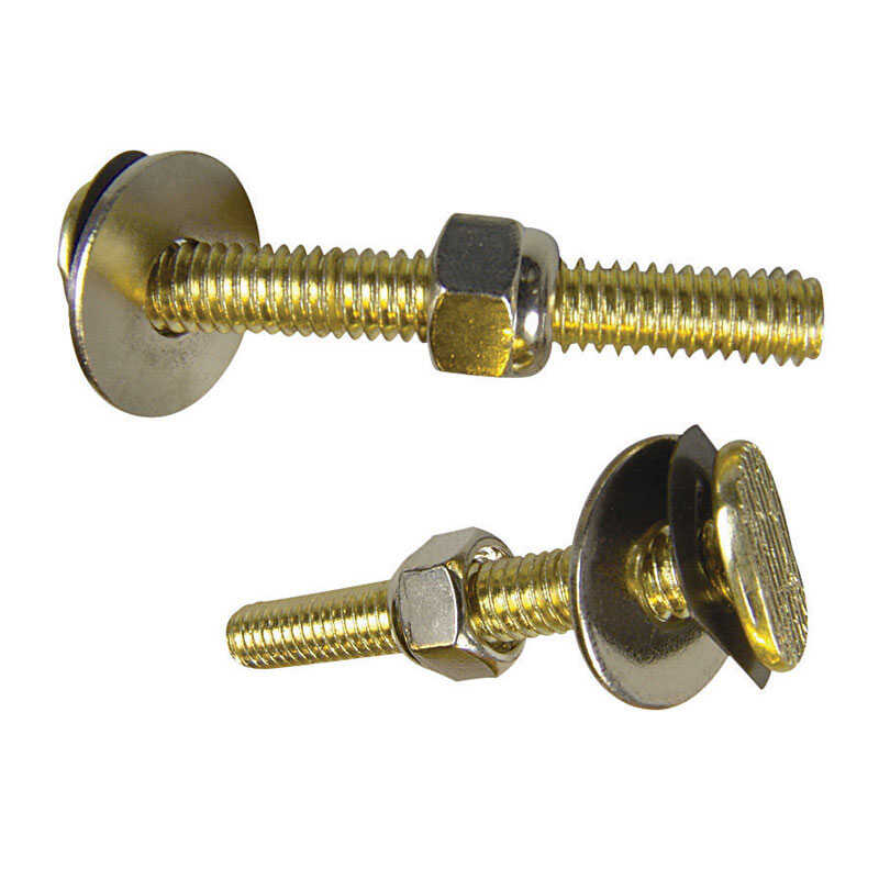 Danco  Toilet Bolt Set  5/16 in. H x 3-1/2 in. L Brass