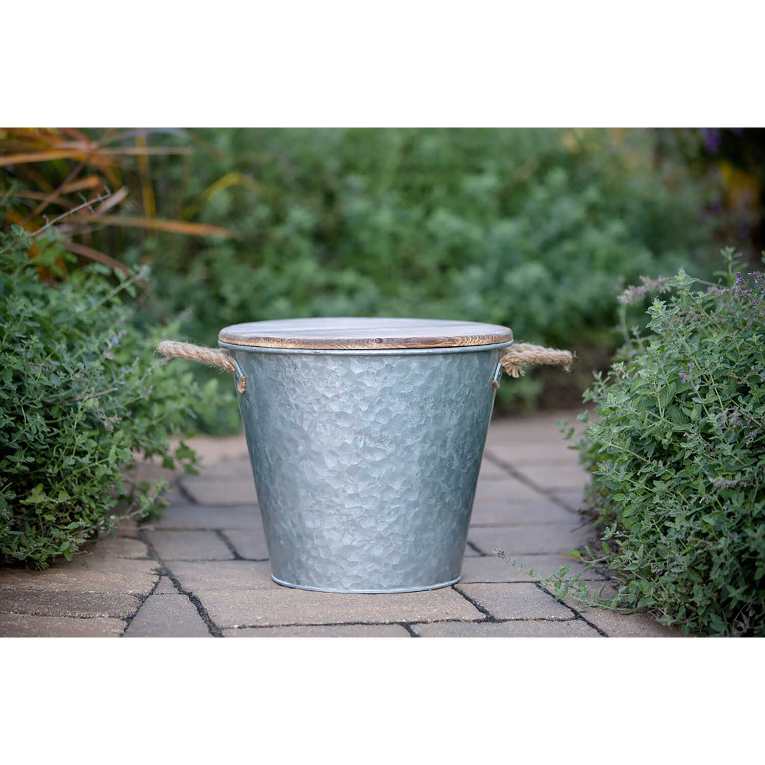 Patio Essentials  Galvanized Bucket  Candle  Solid  For Flying Insects 132 oz.